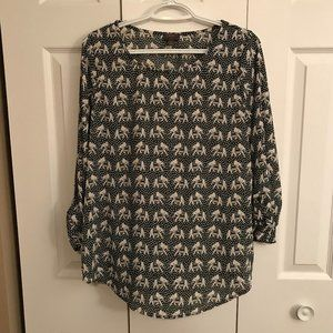 Mix by 41 Hawthorn Ellie Printed 3/4 Sleeve Blouse